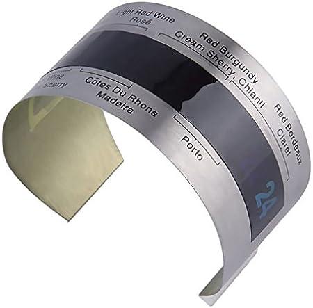 rongweiwang Vino de Acero Inoxidable LCD eléctrico Vino Tinto Vino Tinto termómetro Digital termómetro del Metro de 4-24 Grados centígrados de Temperatura Rango