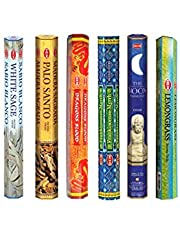 Hem Incense Sticks (White Sage,Palo Santo,Dragon Blood,Frankincense-Myrrh,The Moon & Lemongrass)