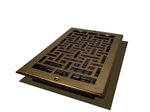 Decor Grates AJL610W-RB Oriental Wall Register, 6-Inch by 10-Inch, Rubbed (Bronze Oriental Register)
