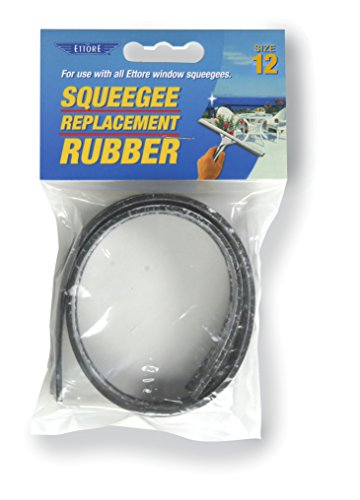 Ettore Replacement Squeegee Rubber, 12-Inch