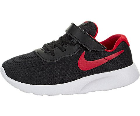 new style 57ab9 518ef Galleon - NIKE Boy s Tanjun (TDV) Running Shoes (10 M US Toddler,  Black University Red White)