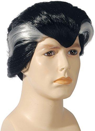 Loftus International Adult Star Power Vampire with Silver Streaks Wig, Black, One Size]()