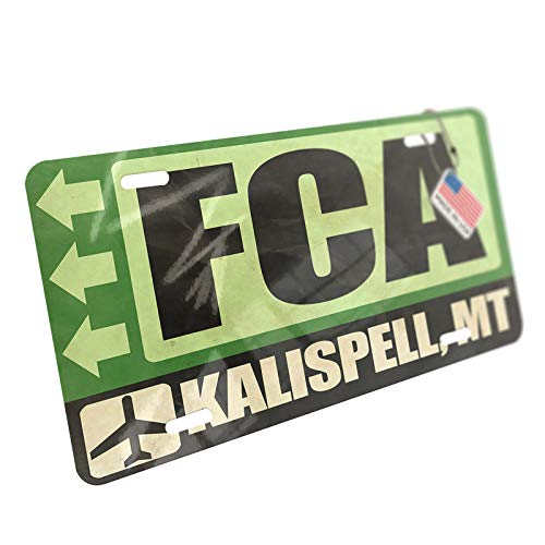 NEONBLOND Airportcode FCA Kalispell, MT Aluminum License for sale  Delivered anywhere in USA
