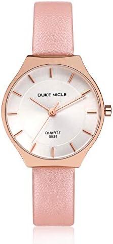Women Wrist Watch,Ladies Fashion Quartz Waterproof Wrist Watches with Comfortable Genuine Leather Strap