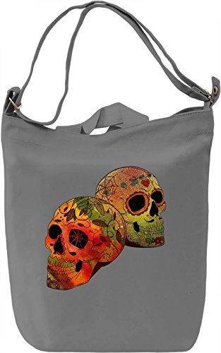 Two Heads Borsa Giornaliera Canvas Canvas Day Bag| 100% Premium Cotton Canvas| DTG Printing|