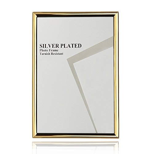 Picture Frame 4x6 Gold Elegant Ideas Photo Frame with Real Glass Stand on Tabletop Picture Frame Shelf for Home Ornament Collage Home Decorations Home Decor Wedding Gift Items -
