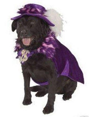 Pimp Costume Uk (Dog Fancy Dress Costume Pimp Daddy - Size Medium)