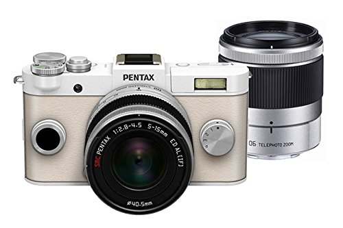 Pentax PENTAX Q-S1 02, 06 Zoom Kit (Pure White) 12.4MP Mirrorless Digital Camera with 3-Inch LCD (Pure White)