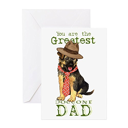 (CafePress GSD Father's Day Greeting Card, Note Card, Birthday Card, Blank Inside Matte)