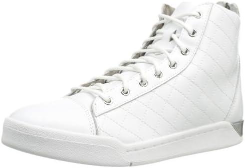 Diesel Diamond Herren Sneaker High Schuhe Sport Stiefellette Leder weiß NEU Sale