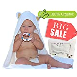 Joli Jodi Organic Extra Soft Bamboo Hooded Baby Towel |Beach and Bath Towel |Antibacterial and Hypoallergenic| Highly Absorbent & Sized for Infant and Toddler(90 * 90 CM) | 500 GSM |
