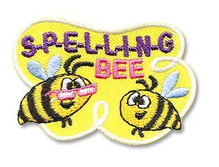 Cub Girl Boy SPELLING BEE Embroidered Iron-On Fun Patch Crests Badge Scout Guides