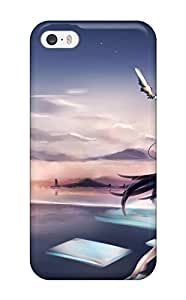 For LkAitQK14911dNswx Aircraft Animal Barefoot Bird Clouds Original Oyeung Paper Seifuku Sky Stars Protective Case Cover Skin/iphone 5/5s Case Cover