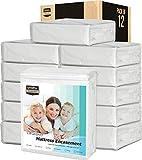 Utopia Bedding Zippered Mattress Encasement Pack of 12 - Waterproof Mattress Protector (Queen)
