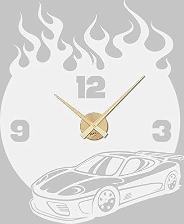 Graz Design Wandtattoo Uhr Mit Uhrwerk Wanduhr Kinderzimmer Auto