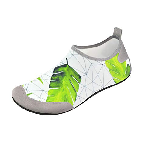 FEDULK Water Shoes, Men Women Quick Dry Water Skin Shoes Socks for Beach Swim Surfing Yoga Exercise(Green, Large)]()