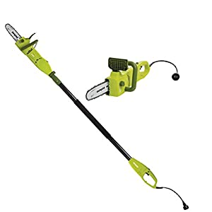 Sun Joe SWJ806E 8-Inch 7.5 Amp Electric Pole Chain Saw, 2-in-1 Convertible to Handheld Chainsaw, Automatic Lubrication…