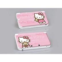 Nintendo 3DS XL HELLO KITTY Protective Vinyl Skin Decal Set