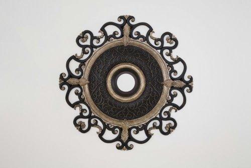 Medallion Lavery Ceiling Minka (Minka Lavery Aire CM7038-STW Ceiling Medallion)