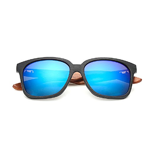 Weidan new Ray peng style walnut legs sunglasses men and women driving mirror 519 (Black frame / dark blue lenses, - 2018 Style Sunglasses In What Are