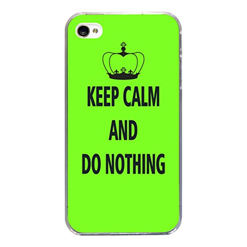 "Disagu Design Case Coque pour Apple iPhone 4 Housse etui coque pochette ""KEEP CALM AND DO NOTHING"""