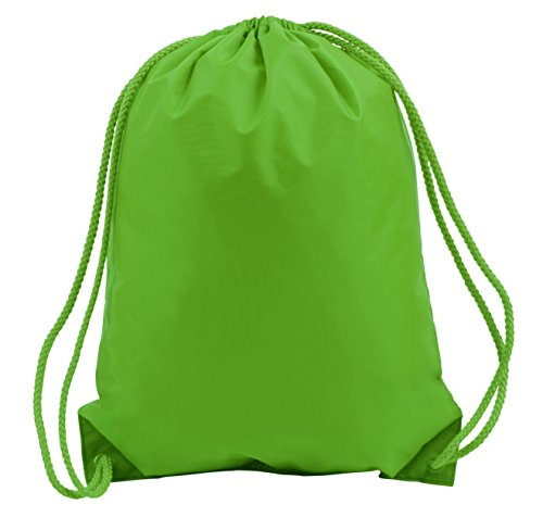 BOSTON DRAWSTRING BACKPACK, Lime Green, Case of 60 by DollarItemDirect