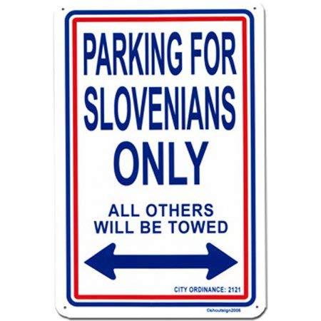 Faaca Metal Sign Slovenia Parking Sign(18