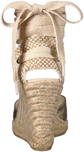 Soludos Womens Metallic Tall Wedge Pump Gold Pallido