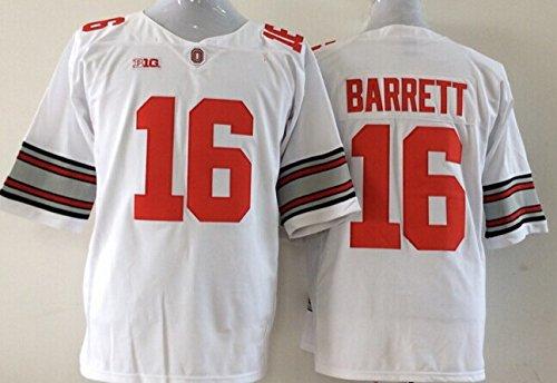 Men's NCAA Football Shirt Ohio State Buckeyes NO.16 Barrett NCAA White Men's Ohio State Buckeyes Football Jersey