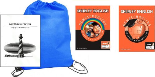 Shurley English Grade 2 Student and Practice homeschool kit in a bag