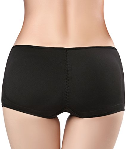 53e693a36 Seamless Padded Butt Lifter Panties Hip Enhancer With Removable Pads Womens  Boy Shorts