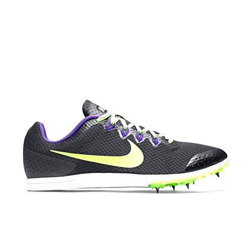 Nike Mens Zoom Rival D 9 Track Spike Nero / Feroce Viola / Verde Strike