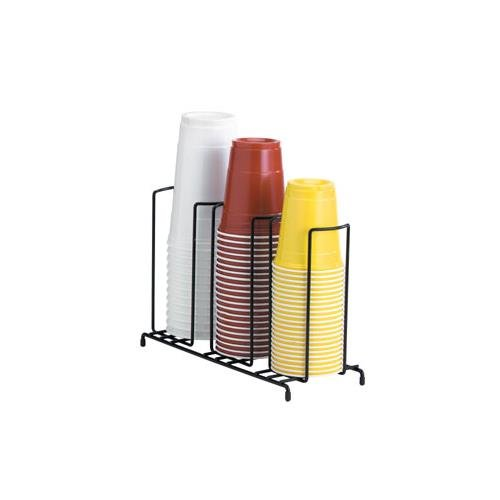Dispense-Rite WR-3 Three Section Wire Rack Cup and Lid Organizer