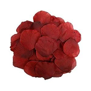 Freedi 1000pcs Silk Rose Petals Fake Flower Wedding Party Bridal Shower Home Garden Decor 20