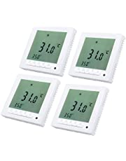 Digital Thermostat programmierbarer Temperaturregler LED Screen Fussbodenheizung Heizkörper (4pack)