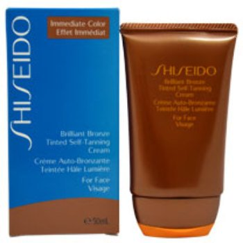 Unisex Shiseido Brilliant Bronze Tinted Self-Tanning Cream - Medium Tan (For Face) Sun Care 1 pcs sku# 1790606MA Brilliant Bronze Self Tanning