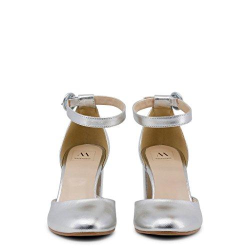 INSIEME Italia Mujer Sandalias Gris Made In FEB5qwxvq