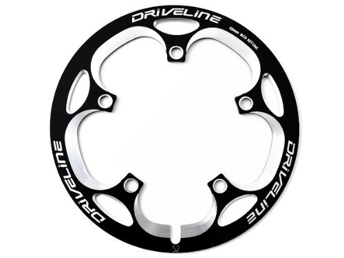 Driveline 52T Bash Guard, Chainring Guard, Chain Cover, BCD130mm CNC (Black)