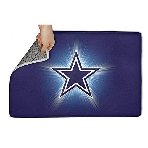 Dallas Cowboys Mat Door Rug (Harlan Nell Durable Floormat Non Slip Door Mats Door mat Carpet pet Front Door Entrance Rug Floormat Easy Clean 31