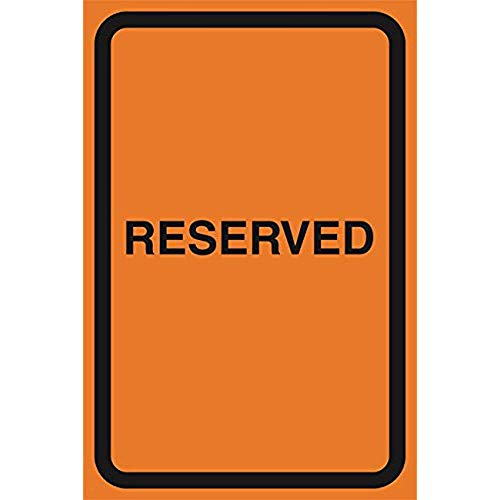 """Diuangfoong Reserved Orange Construction Zone Safety Parking Lot Street Road Warning Business Signs Commercial Sign Aluminum Metal Tin 12""""x18"""" Sign Plate from Diuangfoong"""