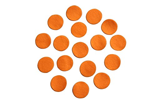Orange Adhesive Felt Circles; Package of 48 or 240 Wholesale, 1.5