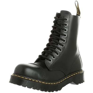 Dr. Martens Men's 8761 Steel-Toe Boot Black Fine Haircell 10 UK
