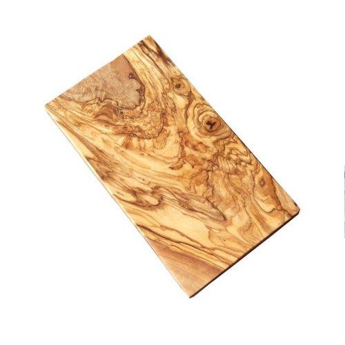 Naturally Med - Tabla rectangular para cortar o usar como bandeja, madera de olivo
