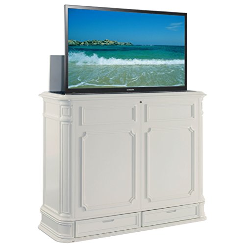 TVLiftCabinet Crystal Pointe TV Cabinet, X-Large, White