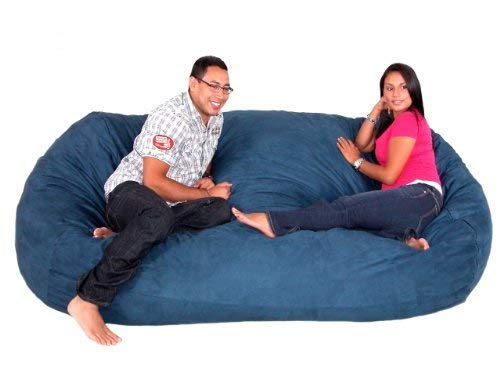 Navy 8 feet Cozy Sack 4-Feet Bean Bag Chair, Large, Navy