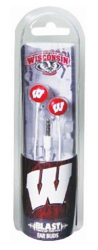 US Digital NCAA Wisconsin Badgers Blast Earbud Headphones by US Digital