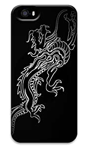 CaseandHome Black Background Chinese Dragon PC Material Hard Case For iphone 5/5s