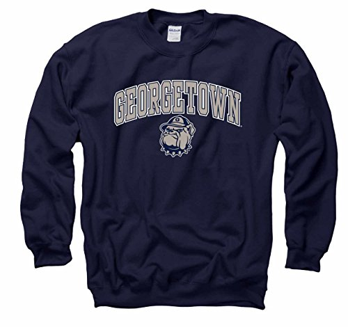 Georgetown Hoyas Arch & Logo Gameday Crewneck Sweatshirt - Navy, Large (Ncaa Hoyas Georgetown Basketball)