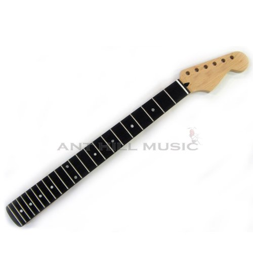 Mighty Mite Electric Guitar Neck - Compound Radius Strat Guitar Neck Maple Ebony