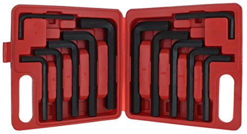 Drixet Jumbo Hex Socket Driver Allen Key, Wrench in SAE-Inch & Metric Set with A Handy Carrying Case. (12 Piece)